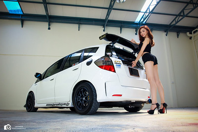 Honda Jazz Hybrid with Mavis Kee