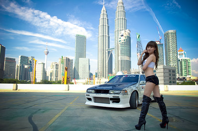 Nissan Cefiro A31 with Joan Lee