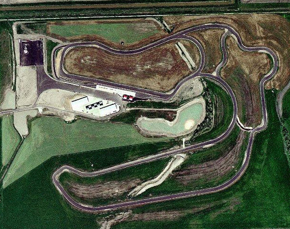 Motor Sport Ranch Houston Aerial.  Not a good place to go off the track - it's really swampy off the pavement.