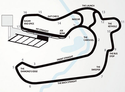 Motor Sport Ranch Houston Track Map