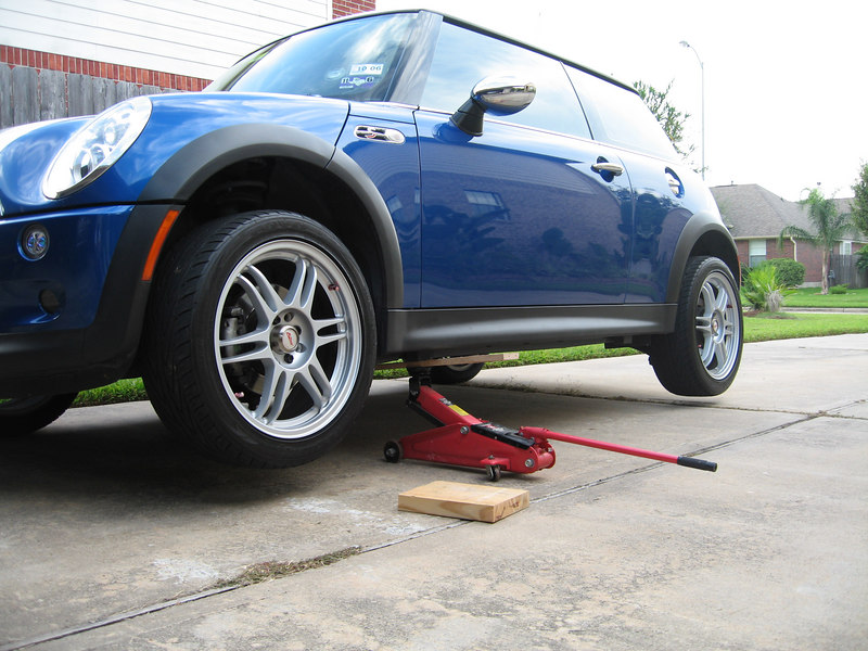 1. Picture of your MINI with at least 2 wheels off the ground 45 pts