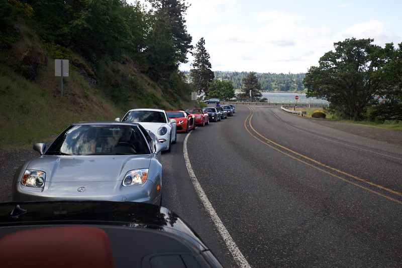 The group on the way to Trout Lake