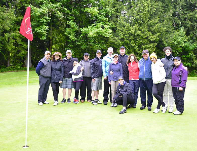 Part of the golf group