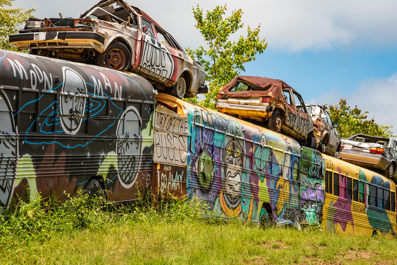 School Bus Graveyard.
