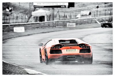 Lambo on the Pit Straight