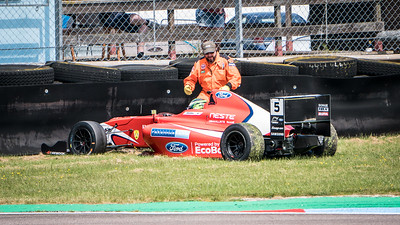 Patrik Pasma in the Tyre Barrier