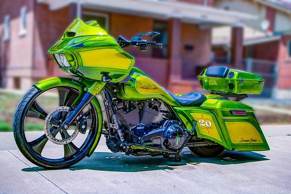 18_0608 Bessemer Customs Green Harley Davidson