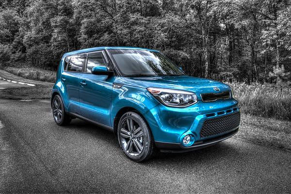 2015 Kia Soul Caribbean Blue @ Stone Mountain Park