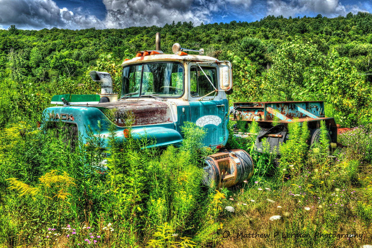Blue Mack Truck in Berlin, NY  #752