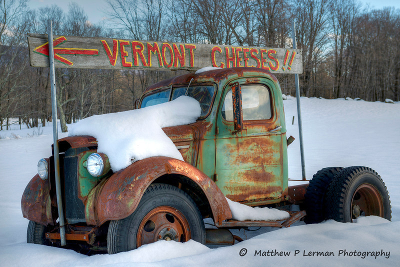 Cheese Truck Winter    Londonderry, VT   #556
