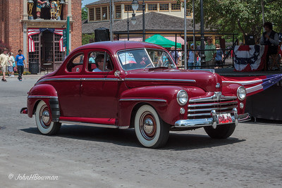 1948 Ford Super DeLuxe Coupe, 2011 Greenfield Village Motor Muster; color is Pheasant Red; same style & colors as in '47 (see '47 cvt in Monsoon Maroon)