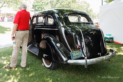 1936 DeSoto Airstream sedan, an original car, with owner; 2011 Greenfield Village Motor Muster