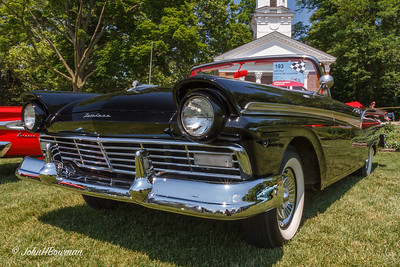 1957 Ford Fairlane 500 Sunliner, 2011 Greenfield Village Motor Muster; on Village Green in front of Martha-Mary Chapel