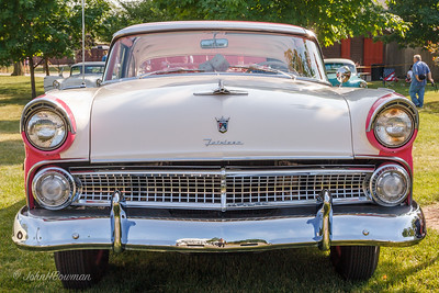 Front of 1955 Ford Fairlane Crown Victoria (full steel roof), 2011 Greenfield Village Motor Muster
