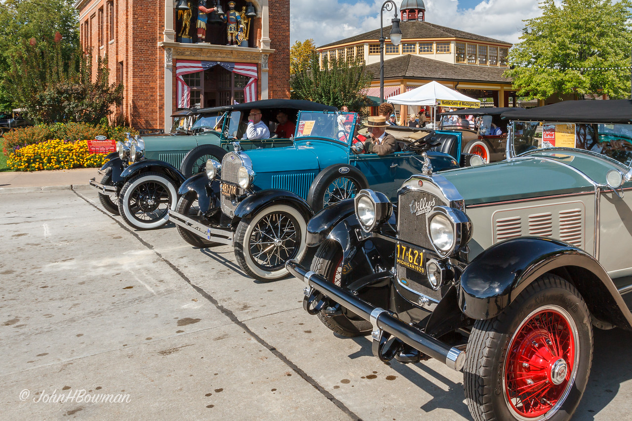 1929 Willys-Knight & Three 1929 Fords