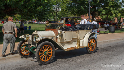 1912 E-M-F Demi-Tonneau, with owner (we rode in this car)