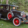 1930 Ford Model A Town Sedan (loaded with gewgaws)