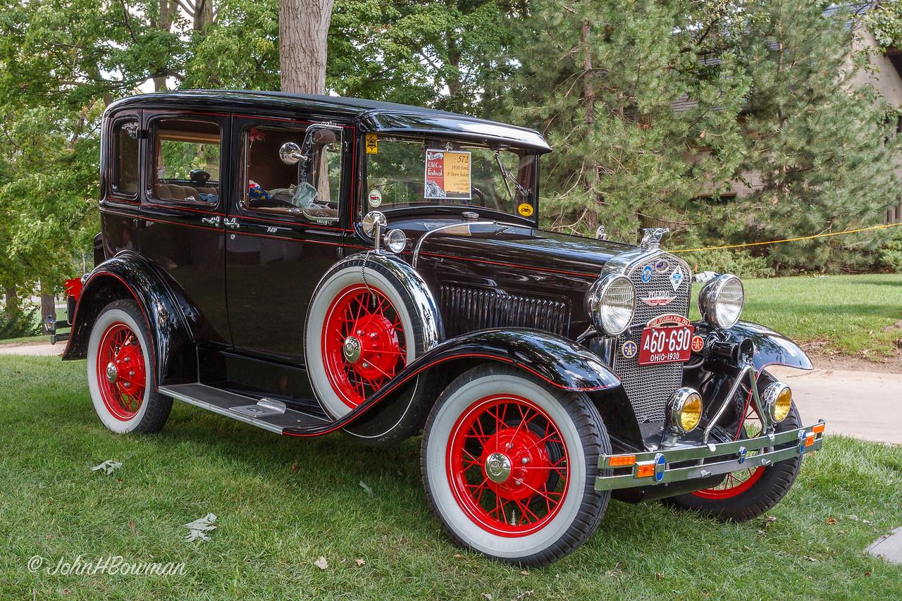 1930 Ford Model A Town Sedan (loaded with gewgaws)
