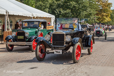 Fords on Parade - '29 Model A Pickup (L), '26 Model T Roadster