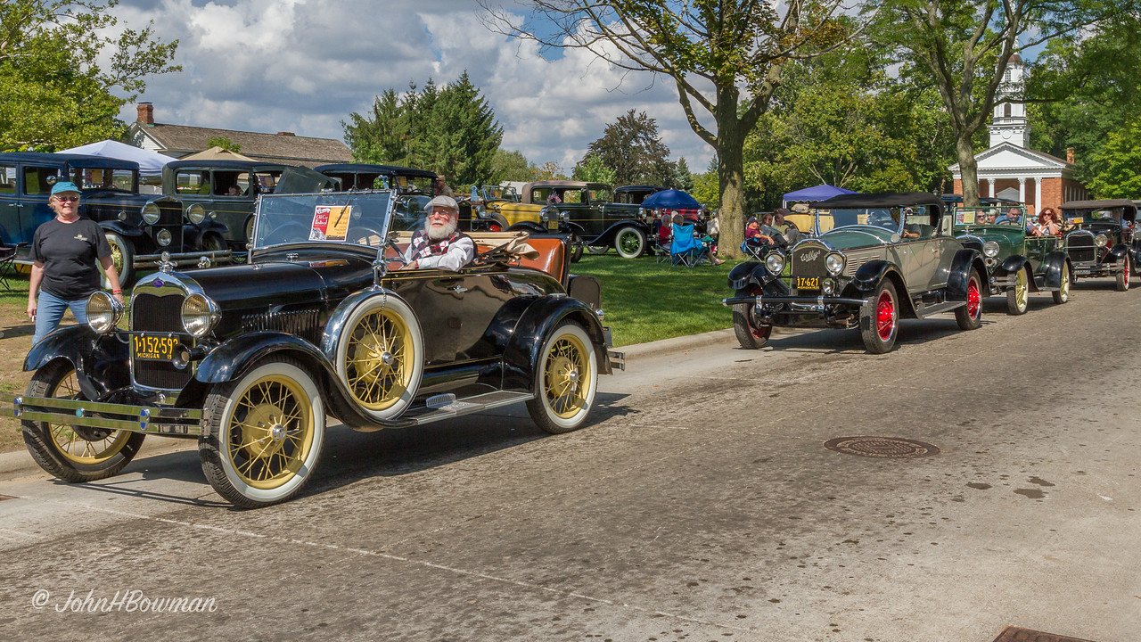 1929 Cars - Ford Model A, Willys-Knight, & Two More Fords