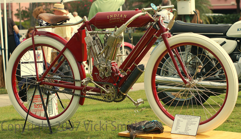 This 1904 Indian board track racer was a local entry from Sea Ranch Lakes. It won a well deserved Best In Show
