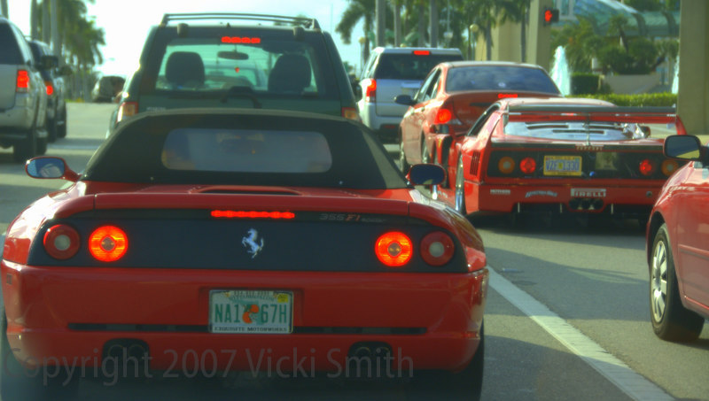 Typical Palm Beach traffic.  I shot this in the car on the way home.  Some days it's best to ride with the windows down.  The music of the traffic had my iPod beat hands down!<br /> Till next year........<br /> Vicki