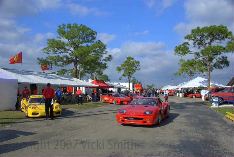 Moroso Motorsports Park, it's a small scruffy racetrack out in the middle of the Everglades but for 4 days every year in January it's the Ferrari capitol of the world