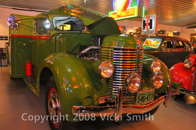 This was my favorite of all I saw. It's called a Diamond T, and it's a 1938 wrecker designed as a custom capable of hauling a Semi tractor on it's flat bed. It's HUGE