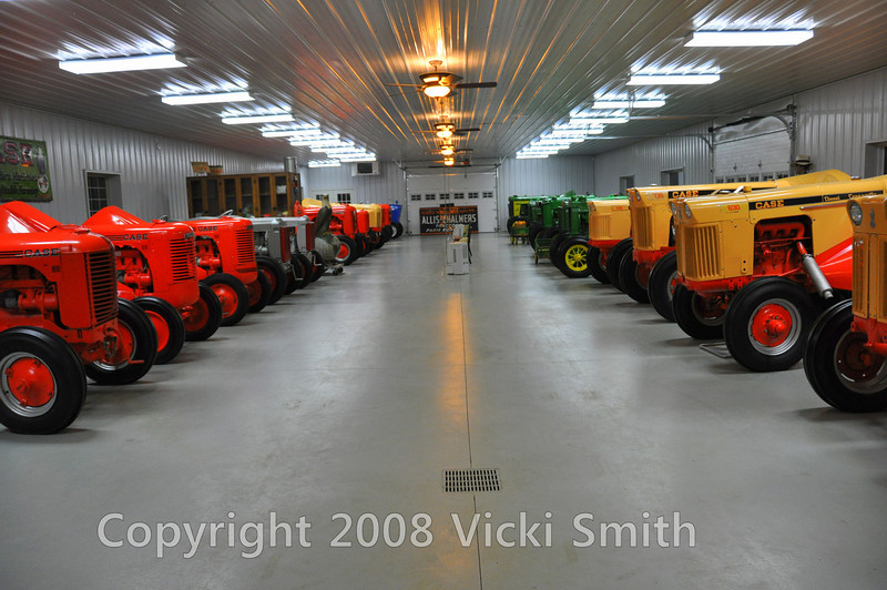 This was the first of the two dedicated tractor barns