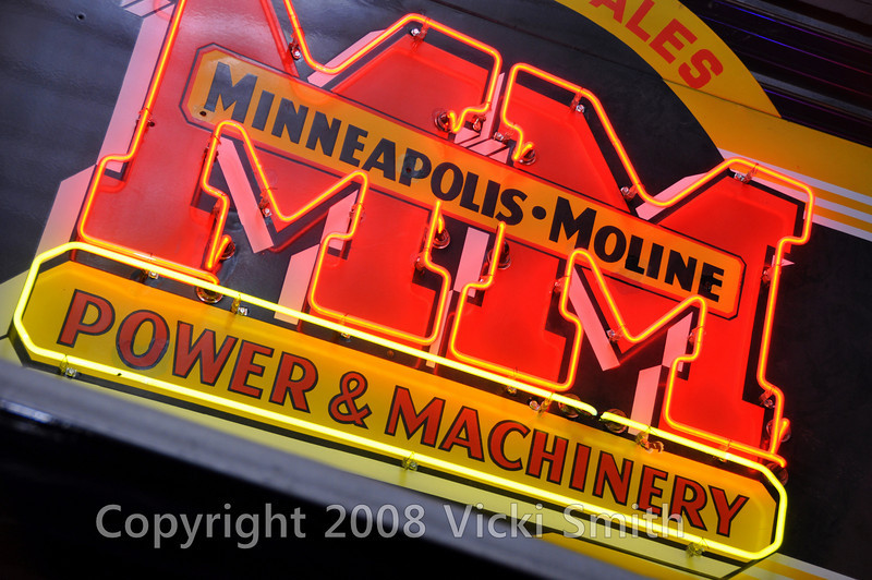 In the back of the room is what might well be the best collection of Minneapolis-Moline tractors in the world.