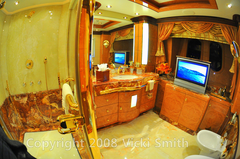 The master stateroom owners cabin bath