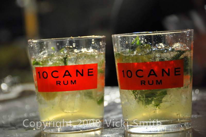 "This one, sponsored by 10Cane Rum was serving ""the perfect Mojito"""