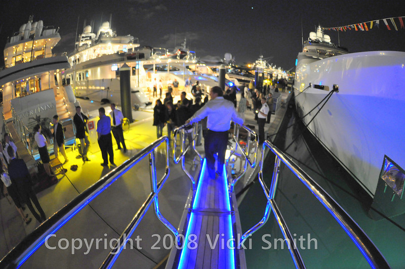 It was getting late, so we headed off to check out a couple more yachts