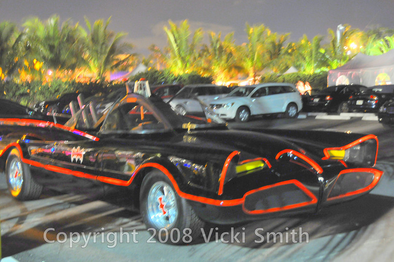 Except for this lone Batmobile, prooving once and for all Batman loves a great party