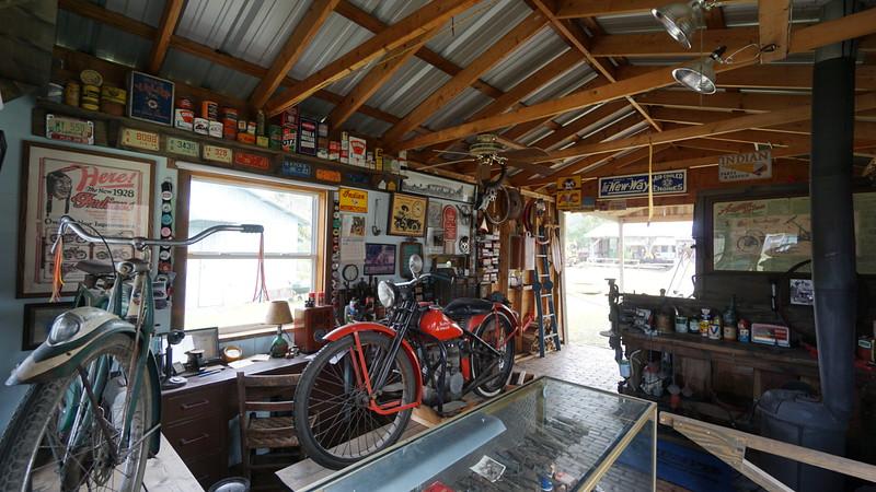 Vintage Motorcycle Shop Display