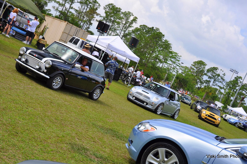 The Miami Mini Cooper club rolls in