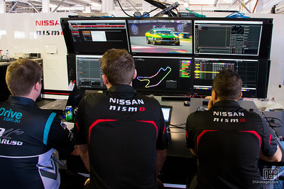 Engineering station for Michael Caruso's Drive Racing team