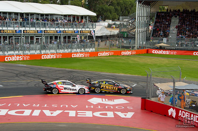 David Reynolds with Garth Tander close behind
