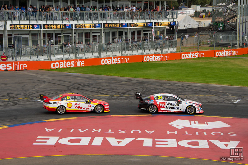 James Golding ahead of Fabian Coulthard
