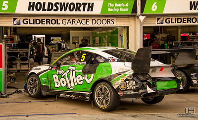 Body damage to Lee Holdsworth's car