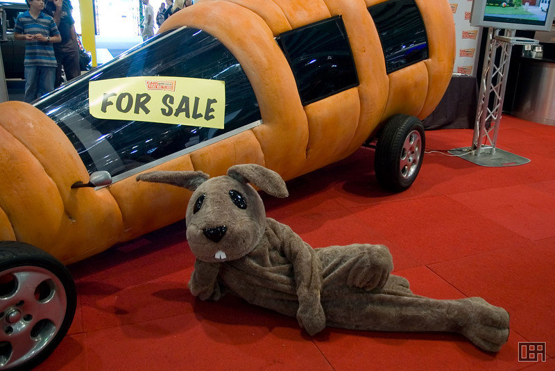 A Rabbit and his Carrot Car