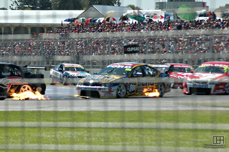 The big V8s, all fired up.