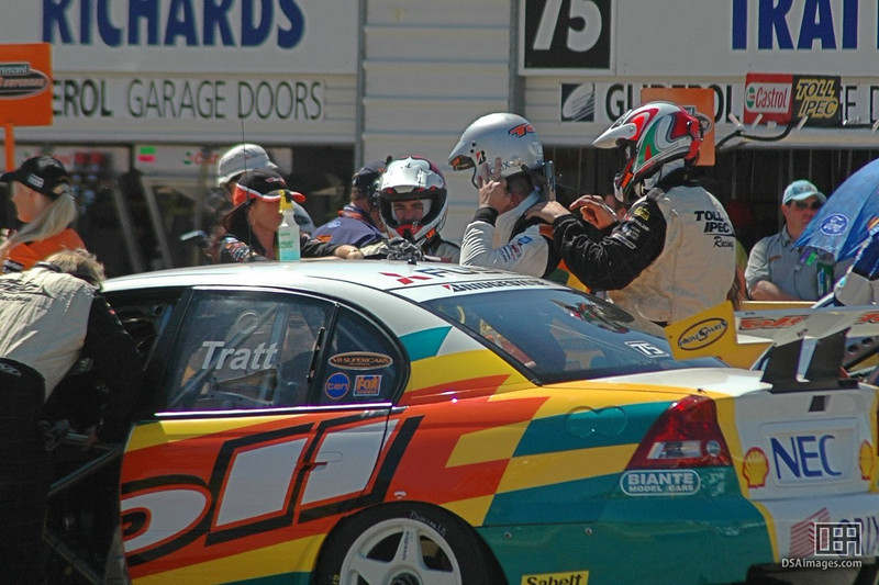 Drivers prepare for the imminent race.