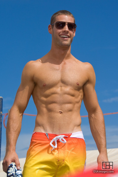 A Fox Model, part of their Beachwear Parade