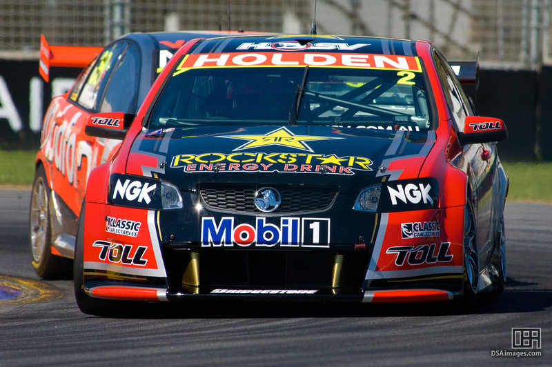 Garth Tander of the Toll Holden Racing Team