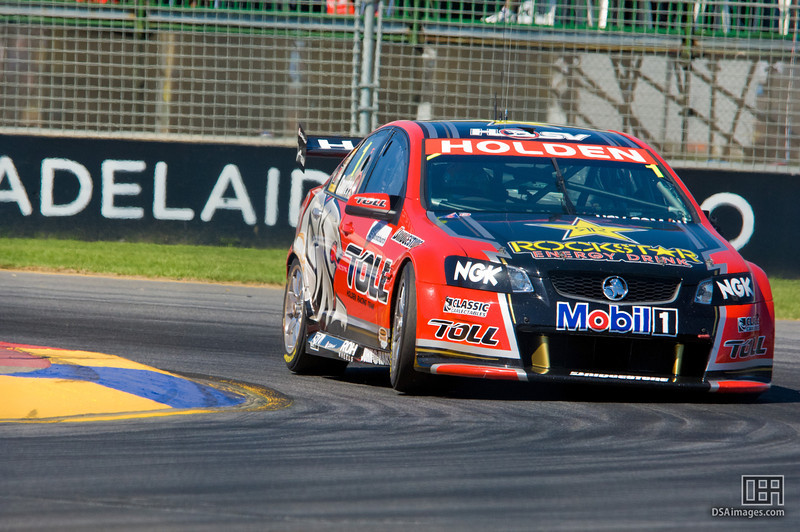 James Courtney of the Toll Holden Racing Team