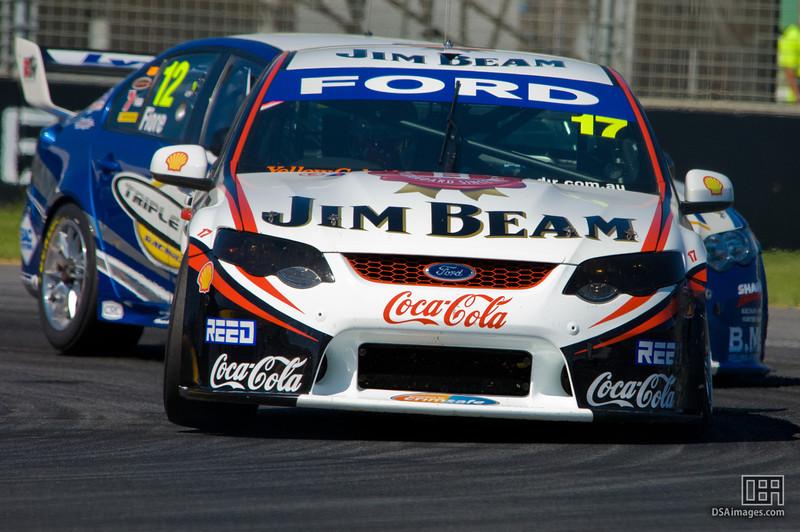 Steve Johnson of the Jim Beam Racing team