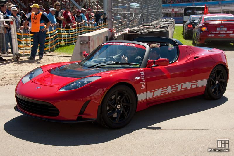 Tesla electric sports car