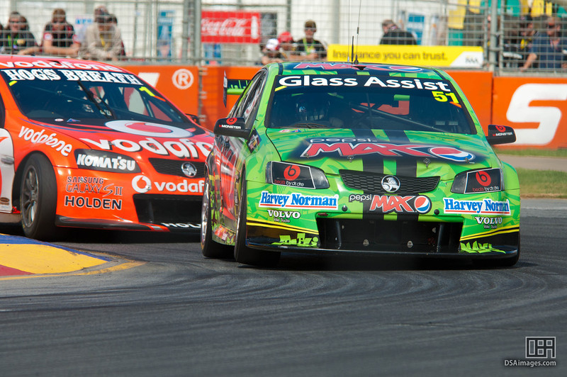 Greg Murphy of Pepsi Max Crew with Jamie Whincup close behind