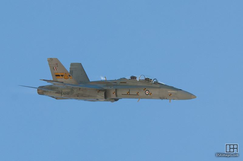 RAAF F/A-18 Hornet air display